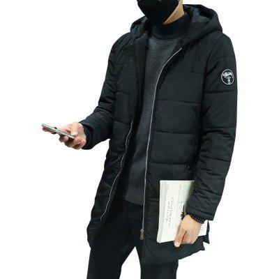 Men's Parkas Winter Hooded Long Type