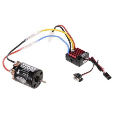 Hobbywing QuicRun WP 1060 Brushed 60A ESC + 540 55T Brushed Motor for 1/10 Axial SCX10 D90 Rock Crawlar Car