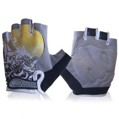 MOKE Pair of Outdoor Breathable Sports Bicycle Half Finger Riding Gloves