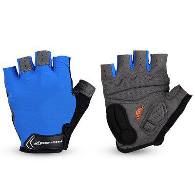 Mountainpeak Pair of Outdoor Sports Bicycle Half Finger Non-slip Riding Gloves