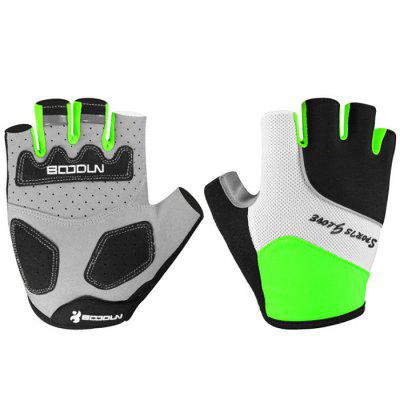 BOODUN Pair of High Elastic Breathable Half Finger Riding Gloves