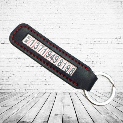 Car Key Chain Men and Women Pendant Tag Anti-lost Mobile Phone Number Card Small Gift Ornaments
