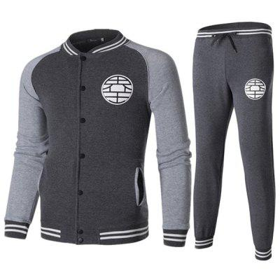 Herbst Winter Männer Baseball Uniform Hosen Set