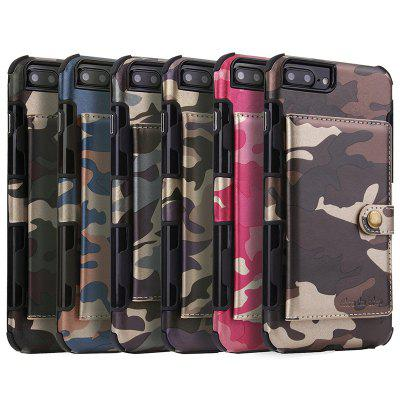 Universal Business Flip Card Slot Camouflage Phone Case for iPhone 6 / 7 / 8 Plus