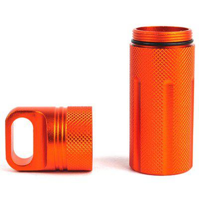 CNC Metal Outdoor Survival Equipment EDC Sealed Cans Waterproof Warehouse / Tank First Aid Bottle