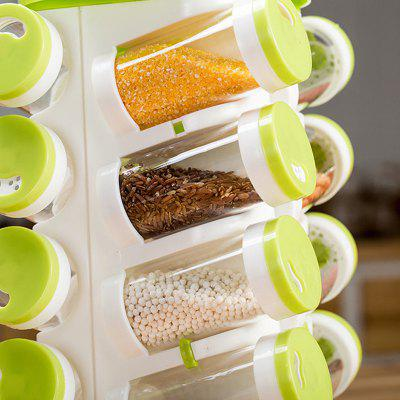 Rotating Porous Seasoning Bottle Holder Set
