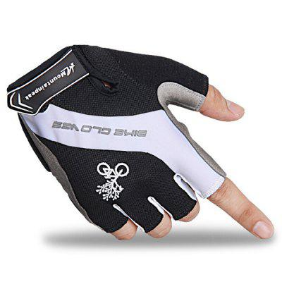Mountainpeak Pair of Outdoor Breathable Sports Bicycle Silicone Half Finger Riding Gloves
