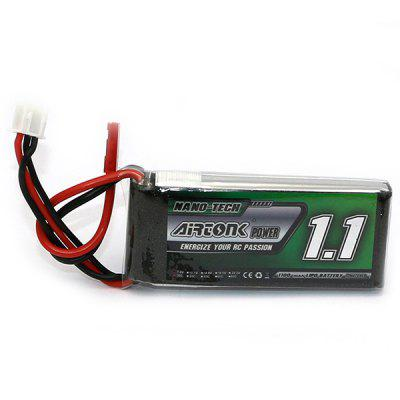 AIRTONK 603562 1100mAh 7.4V 2S JST LiPo Battery for RC Drone Boat Airplane Models DIY Accessory