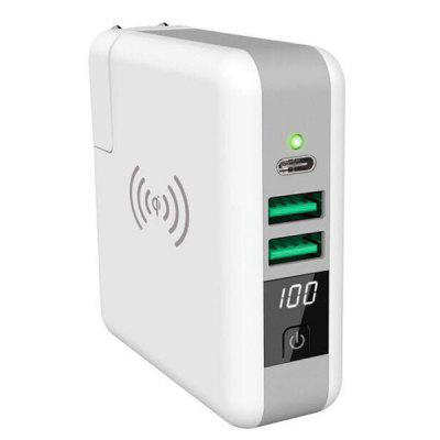 5V 2.4A 6700mAh Power Bank + Wireless Charger with US Plug