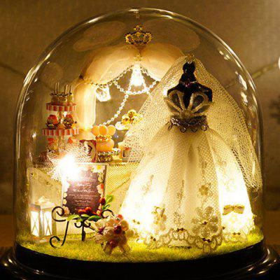 Love Forever DIY Doll House Miniature Suit Gift with Light