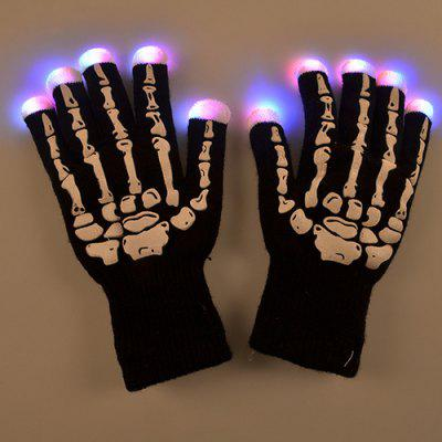 LED Glow Warm Gloves Christmas Supplies