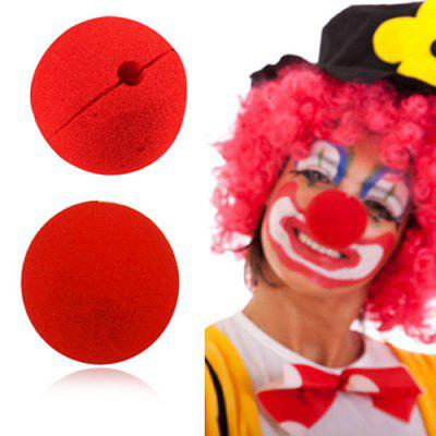Adorable Red Ball Sponge Clown Nose for Party Wedding Decoration 1pc