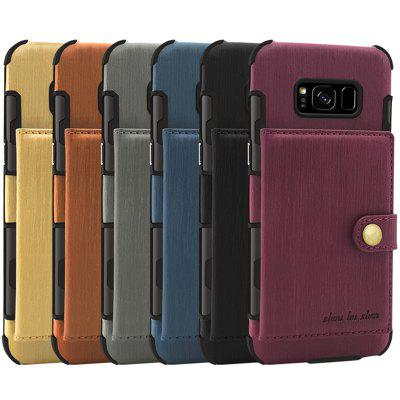 Pure Color Brushed Leather Phone Protector for Samsung S8 PLUS