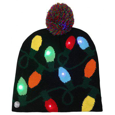 Ball Christmas LED Light Knit Hat