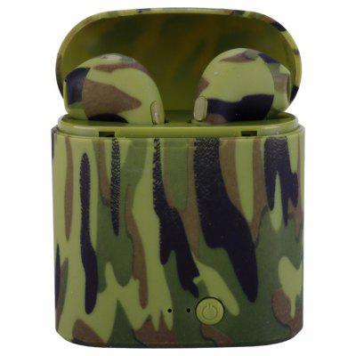 Refurbished i7s Camouflage Printed TWS Wireless Bluetooth Earphones