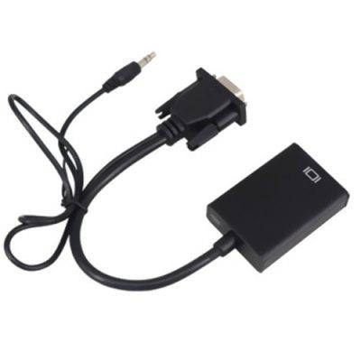 VGA to HDMI Adapter Converter with AUX / USB 2.0 Cable