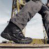 Men Fashion Hiking Boots Outdoor Anti-slip Lace-up - BLACK