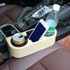 R151 - 2 Skinned Car Seat Catcher Gap Filler Storage Box Cup Holder Portable Commodity Shelf - MULTI-A