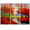 Mangrovie Forest Printing Painting 3pcs - MULTI COLORI