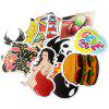 General Stickers with Different Words Patterns 100pcs - MULTI