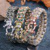 Personality Punk Jewelry Copper Skull Survival Bracelet - MULTI-C