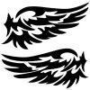 S - 55 Car Reflective Wing Pattern Sticker Auto Window Body Decal - BLACK