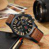 CURREN 8244 Men Six-pin Waterproof Belt Personality Big Dial Watch - KHAKI