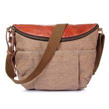 GFAVOR Canvas Bag Men Shoulder Messenger Bag Retro