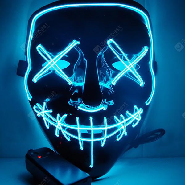 Halloween Party LED Light up Masks Cosplay Costume Supplies - DODGER BLUE