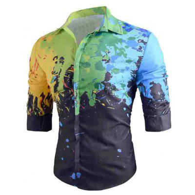 Men's Fashionable Slim Fit Printed Shirt