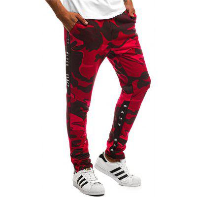 Fashion Camouflage Printing Elastic Men Sports Pants Casual