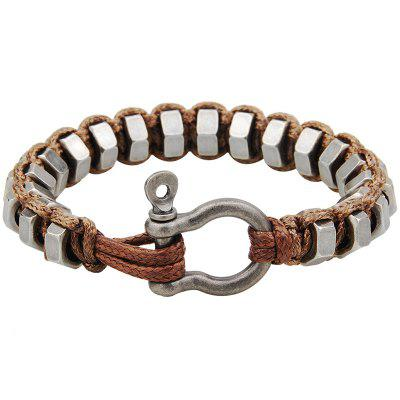 Outdoor Iron Ring Copper Buckle Hand-woven Survival Bracelet