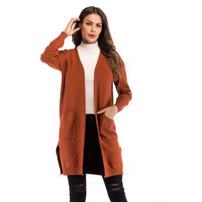 Ladies Long Strickjacke Mantel