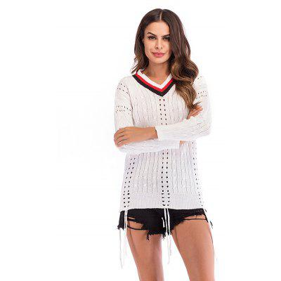 Women's Sweaters V Collar Knit Durable
