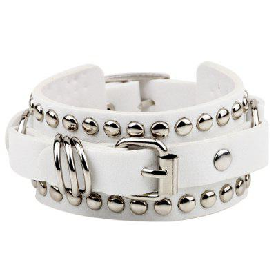 Couple Punk Leather Belt Rivet Bracelet