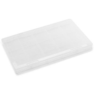 1D01 15 Cells Splittale Plastic Storage Boxes for Small Guitar Accessories