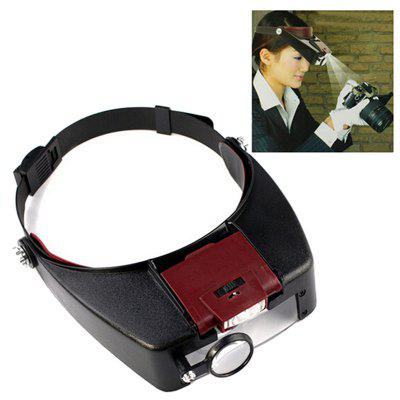 Head-mounted with Led Light Magnifying Glass