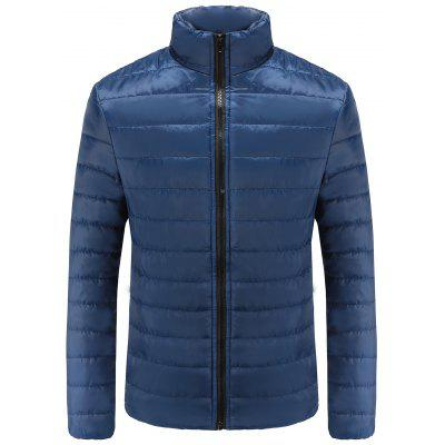 Male Solid Color Stand-up Collar Parka