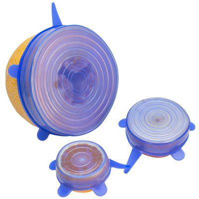 Stretchable Silicone Bowl Vacuum Sealed Fresh Cover 6pcs