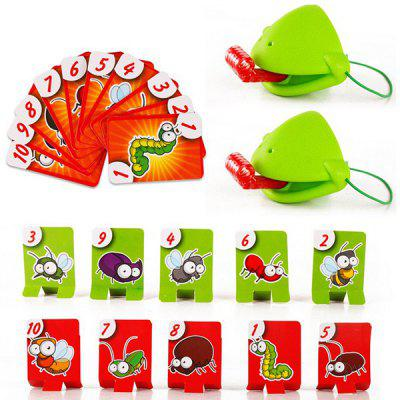 Funny Chameleon Long Tongue Eat Pest Catch Bugs Board Game Set