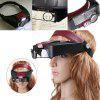 Head-mounted with Led Light Magnifying Glass - BLACK