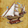 MoFun B468 - 11 DIY 3D Paper Puzzle Pirate Ship Model 102PCS - Цвет натурального дерева