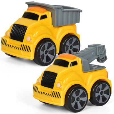 Pullback Truck Model with Light Music Sound Effect 3pcs