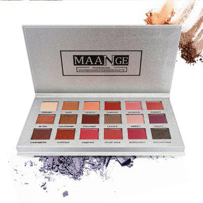 MANNAGE 18 Color Eye Shadow Tray Multicolor Waterproof Makeup Tool