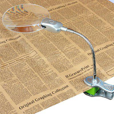130mm 1.5 Times Clip Type Resin Lens Magnifying Glass with LED Light