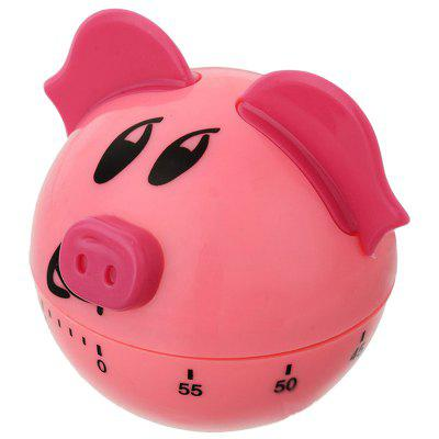 Pink Pig Countdown Clock Kitchen Timer without Electricity