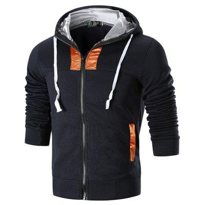 Men's Fashion Slim Zipper Hooded Sweater