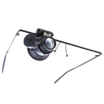 Glasses Type with LED Light 20X Magnifying Glass