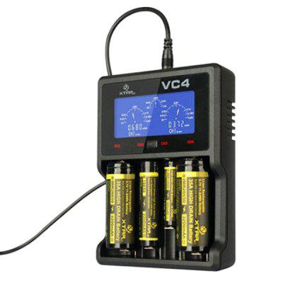 Xtar VC4 4-slot Smart LCD Battery Charger