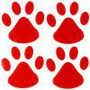 S - 129 Panda Hund Funny Footprint Car Body Sticker - SCHWARZ